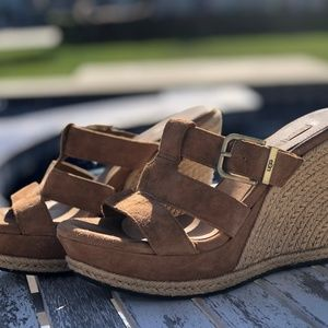 Strappy UGG Wedges, Sz 6.5